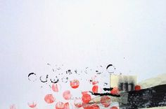 Abstract collage with red circles by beamahan on Etsy