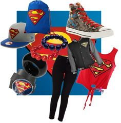 """superman swag"" by jasminemurguia on Polyvore"