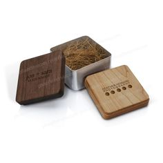 Industrial Metal : Small Wood Box for Flash | Industrial Line : Packaging | The Industrial Line | Our Product Lines | Photoflashdrive.com