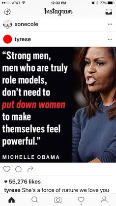Here is Michelle Obama Quotes for you. Michelle Obama Quotes michelle obama quote about strong men feminist quotes. Great Quotes, Quotes To Live By, Me Quotes, Inspirational Quotes, Mentor Quotes, People Quotes, Lyric Quotes, Daily Quotes, Famous Quotes