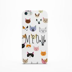 CAT iPhone 6 Case 5 /5c 4/4S Case  Cover  Cats Meow by InfigoCase