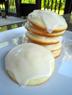 This month's cookie for the Cookie Carnival  was Giada's Lemon Ricotta Cookies with Lemon Glaze .  These cookies were very moist and c...