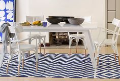 Blue and white rug love