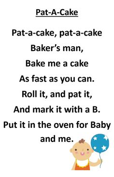 Drop In Storytime Rhyme - Pat-A-Cake