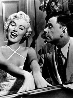 "The Girl (Marilyn Monroe): [in Richard's fantasy] ""Rachmaninoff... It isn't fair... Every time I hear it, I go to pieces... It shakes me, it quakes me. It makes me feel goose-pimply all over. I don't know where I am or who I am or what I'm doing. Don't stop. Don't stop. Don't ever stop!"" -- from The Seven Year Itch (1955) directed by Billy Wilder"