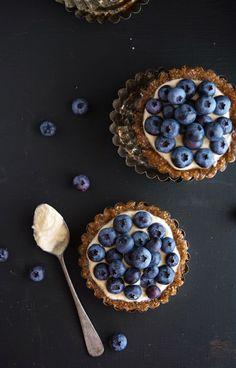 Delicious grain-free, gluten-free, paleo friendly almond-berry tartlets