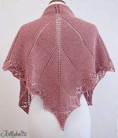 Free knitting pattern for My First Lace Shawl