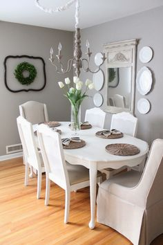 Classic French provencial table with vintage accessories