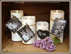 Luminara Flameless Battery Operated Candles for a pretty yet simple #MothersDay display @christinevd