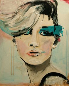 Push  Fashion Painting Art Print   // 2nd edition por LeighViner, $28.00