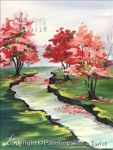 NEW! Creekside by Lou - San Antonio, TX - Northwest Painting Class - Painting with a Twist