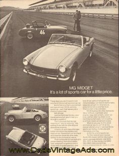 1972 Vintage MG Midget ad – It's a lot of sports car for a little price