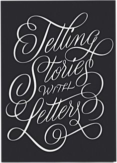 'Telling Stories with Letters' by Martina Flor for lettercollections.com