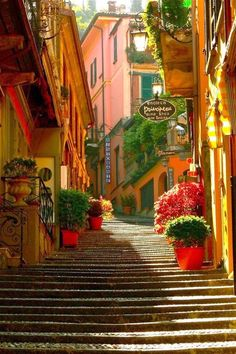 # Stairway, Bellagio, Lake Como, Italy I've been here it's gorgeous!