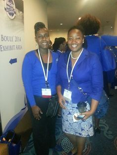 Soror Lakitha Bledsoe-Hughes enjoying her sorors at the 2014 Boule in Washington, D.C.