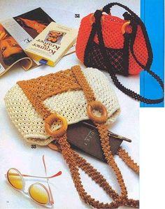 Knitted Bags, Knitted Fabric, Crochet Purses, Purses And Handbags, Crochet Bikini, Straw Bag, Beaded Jewelry, Pouch, Knitting