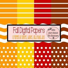Fall Digital Paper Pack Freebie