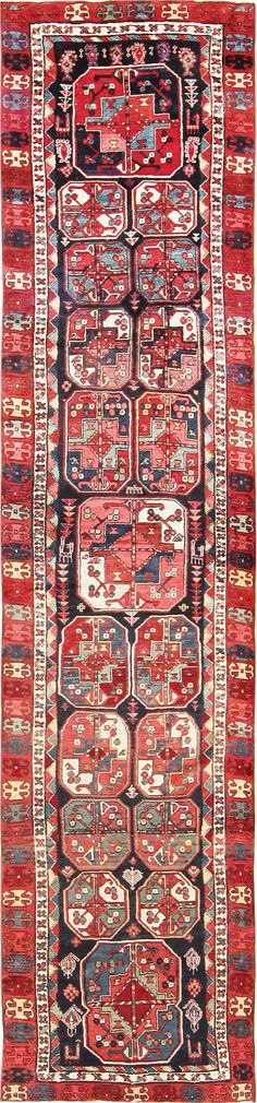 Click here to view this Rare Antique Tribal North West Persian Bokara Design Runner 47460 available only at Nazmiyal in New York City.