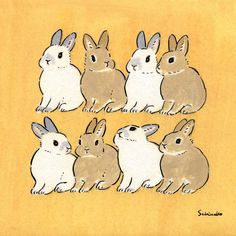 Acrylic Paint by Schinako Moriyama. Schinako Moriyama is an illustrator as bunny art from Fukushima, Japan Continue reading and for more Acrylic art→View Website Bunny Drawing, Bunny Art, Cute Bunny, Rabbit Illustration, Illustration Art, Illustrations, Pretty Art, Cute Art, Animal Drawings