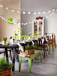 Table de printemps Livet Hemma via Nat et nature