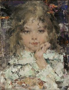 Portrait of a Girl by Nicolai Fechin from the exhibition of his works at the Russian Museum of Art in Minneapolis (Aug 2012-Jan 2013)