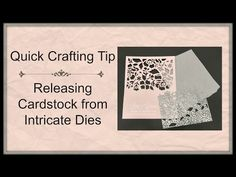 Quick Crafting Tip - Releasing Cardstock From Intricate Dies  - Stampin' Up!, card, paper, craft, scrapbook, rubber stamp, hobby, how to, DIY, handmade, Live with Lisa, Lisa's Stamp Studio, Lisa Curcio, www.lisasstampstudio.com