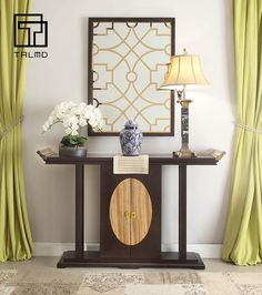 TALMD-909新中式系列。 Asian Furniture, Chinese Furniture, Cabinet Furniture, Home Interior Design, Interior Decorating, Chinese Interior, Asian Home Decor, Chinese Style, Entryway Tables