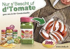 Die 2. Mischung, welche Peter Stettler, (Erfinder vom HärdöpfelGwürz) den Schlaf raubte... bis Sie schliesslich herausgetüftelt war. Fein für Tomatensalate, für Butterbrote und natürlich über alles anderen Gemüsesorten.  Anwendung:  Eine Prise über den Salat oder direkt auf die Tomaten und Du wirst begeistert sein (und Deine Familie natürlich auch ;) ). Gluten, Snack Recipes, Snacks, Chips, Food, Inventors, Sleep, Grilling, Cooking