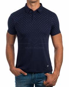 Polos Armani Azul Marino - BR Polo Shirt Outfits, Polo T Shirts, Moda Junior, Jeans Armani, Bike Wear, My T Shirt, Shirt Style, What To Wear, Men Casual