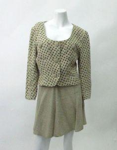 Lolita Lempicka Vintage Spotted Mini Skirt Suit