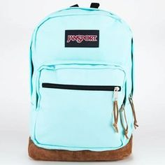 Jan Sport Light Blue back pack. One of the latest Jan sport bags I love the blue and the brown on the bottom. Totally my style!!!
