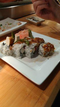 Marley sushi 🇯🇲 Asperges, Cream cheese, tofu, mango and jerk spices🍣