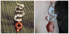 Création : Boucles d'oreilles 100% récup – LadyVertColibri