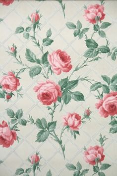 Fresh Florals Vintage Wallpaper From Illinois