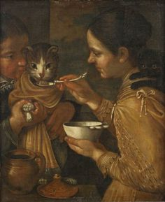 Suiveur de Vincenzo Campi, La bouillie du chat