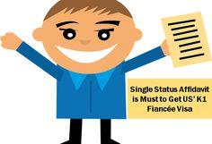 Single Status Affidavit is Must to Get US' K1 Fiancee Visa