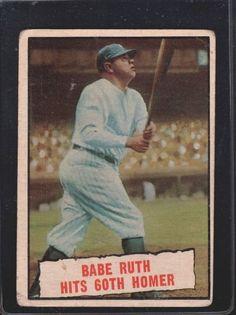1961 Babe Ruth Topps Baseball Card