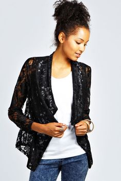 Nina Lace Waterfall Blazer is on sale now for - 25 % !