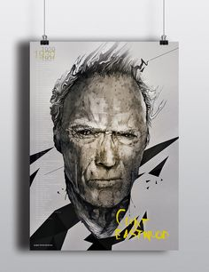 'Clint' by Michał Miszkurka on wall-being
