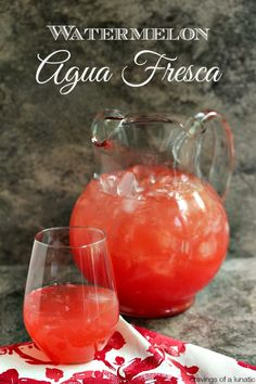 Watermelon Agua Fresca | Cravings of a Lunatic