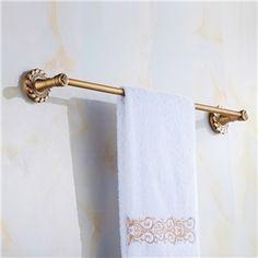 Accessoires Vintage de salle de bain Porte-serviettes européen Antique en laiton