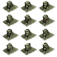Orc Heads - Of Orcs And Men Art & Pictures