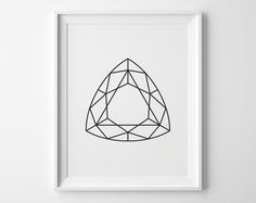 Geometric Printable Black and White Minimalist by SweetPeonyPress