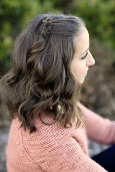 Triple Knot Accent for short hair! #cutegirlshairstyles #shorthairstyles #accent #hairstyles #hairstyle