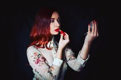 What's wrong with a little dream, an aspiring desire in the form of a pot of rouge or a flask of perfume with their promise of a better day? 💋 @zuzana_ocovanova #photography #vintage #retro #oldstyle #redlips #ginger #redhead #fashion #vintagefashion #beauty #glamlover #makeupaddict #rouge #lipstick #lips #retronails #lifestyle