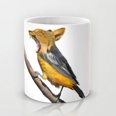 Bird Hybrid - Oriole and Cat Mug by Ursula Di Chito | Society6