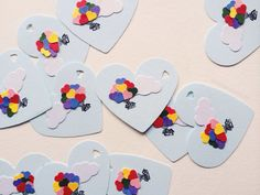 Heart Balloon House Gift Tags by theadoration on Etsy