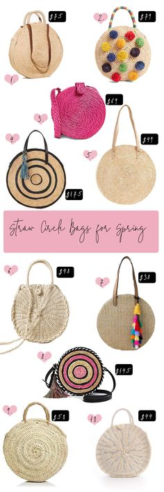 Rounding up the best affordable straw circle bags for spring. Straw circle bags are making a splash as a must-have item for spring 2018.