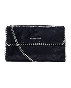 Oversize Chelsea Python-Embossed Clutch Bag by MICHAEL Michael Kors at Neiman Marcus.