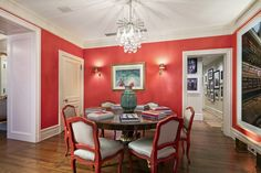 Coral!   Ina Garten's Park Ave home.